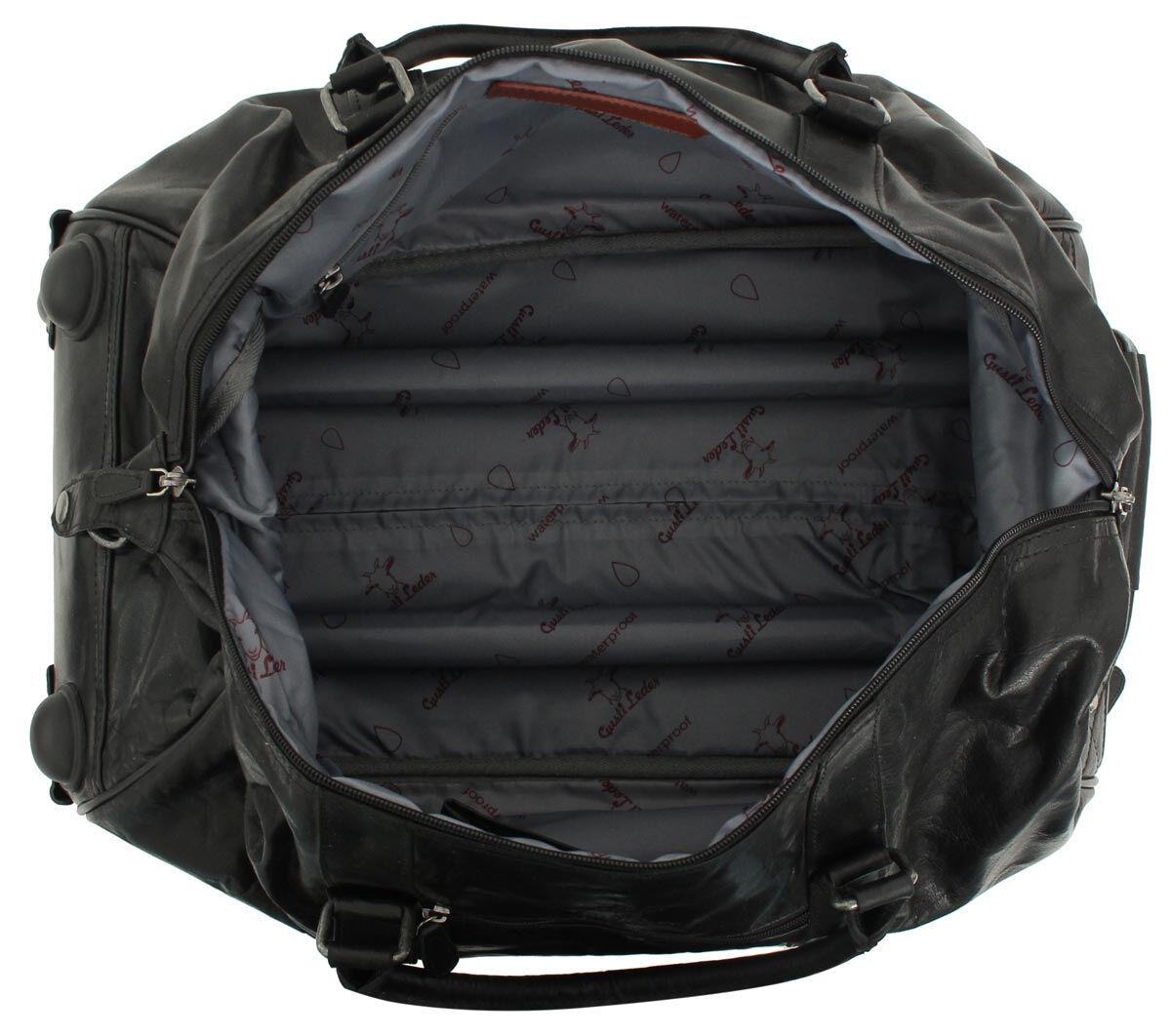 Outlet Reisetasche - faltiges Leder - Altes Logo- eines defekten Reißverschlusses - ansonsten neu