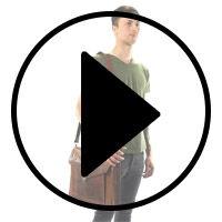 Outlet Fahradtasche - Lederfehler – faltiges Leder - ansonsten neu - siehe Video
