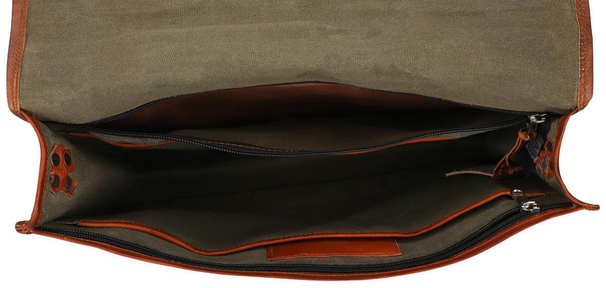 Outlet Umhängetasche - kleine Farbunterschiede im Leder - defekter Verschluss - kleinere Lederfehler