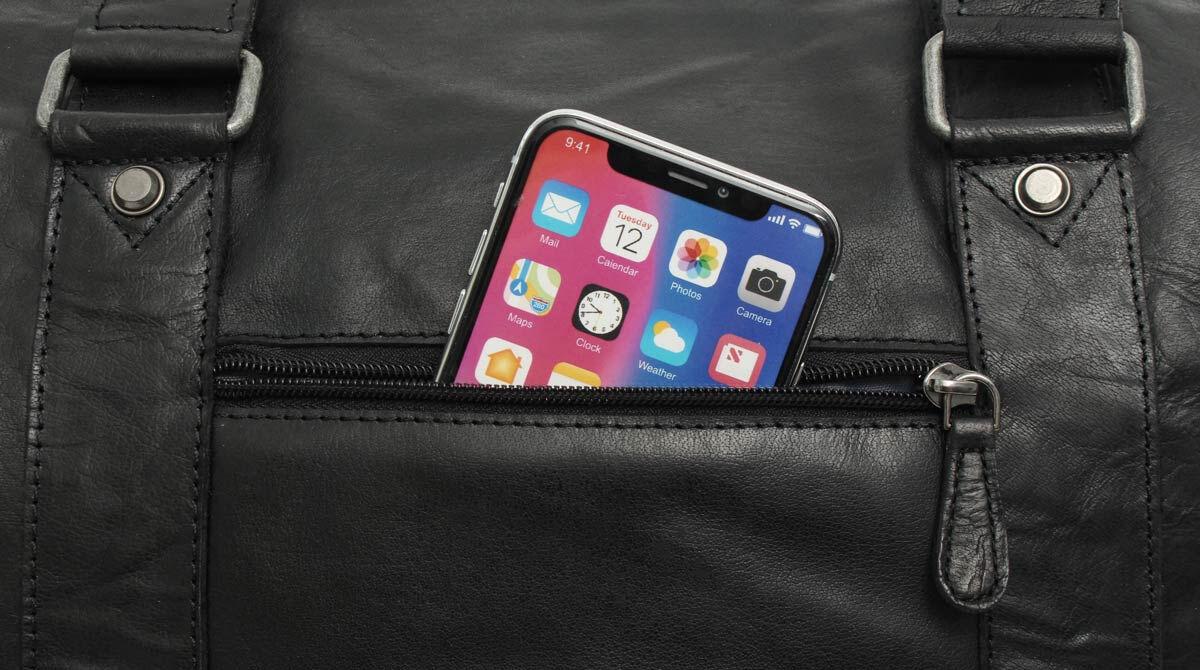 Outlet Reisetasche – faltiges Leder – ansonsten neu – Siehe Video