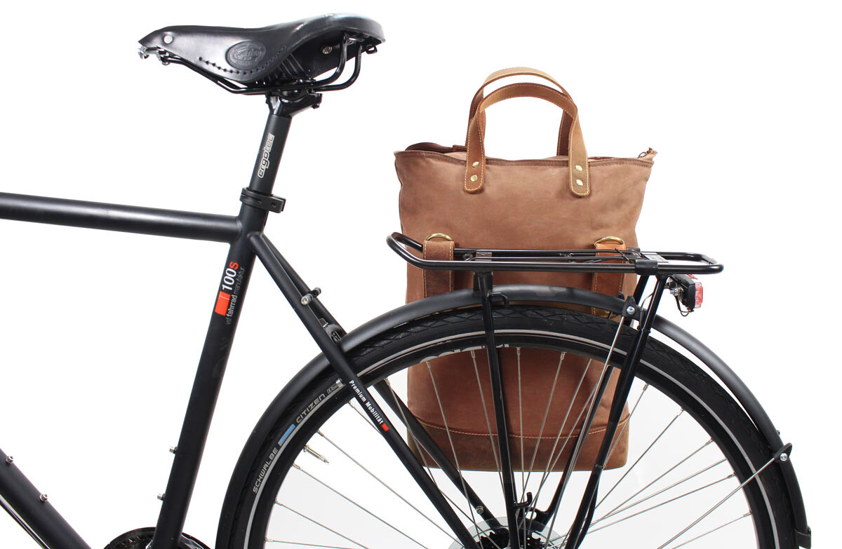 Outlet Fahrradtasche - flecken im stoff - kleinere Lederfehler - altes Design - ansonsten neu – Sieh
