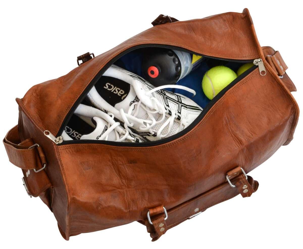 Outlet Reisetasche - kleinere Lederfehler - defekte Nähte - ansonsten neu - siehe Video