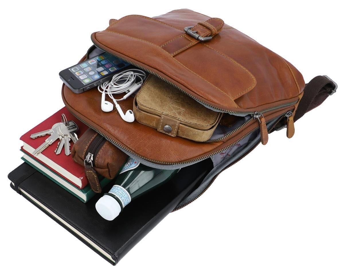 Outlet Rucksack - kleinere Lederfehler – faltiges Leder - eines defekten Reißverschlusses - ansonste