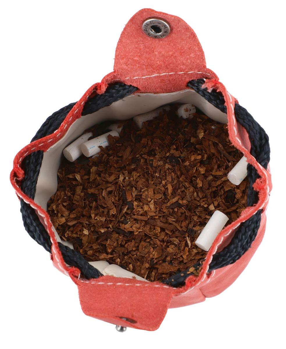 Outlet Tabaktasche – Verfärbungen – kleinere Lederfehler – ansonsten neu - Altes Logo – Siehe Video