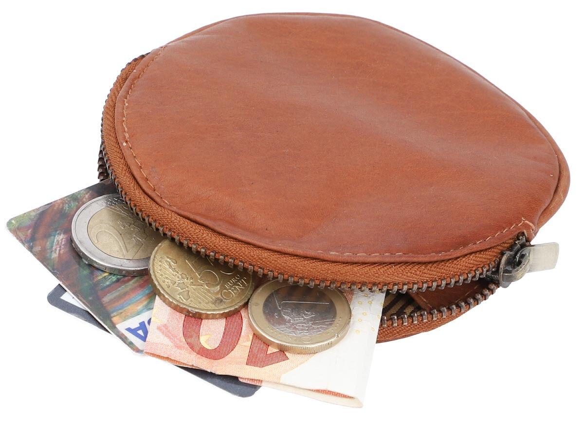 Portamonete portafoglio in vera pelle
