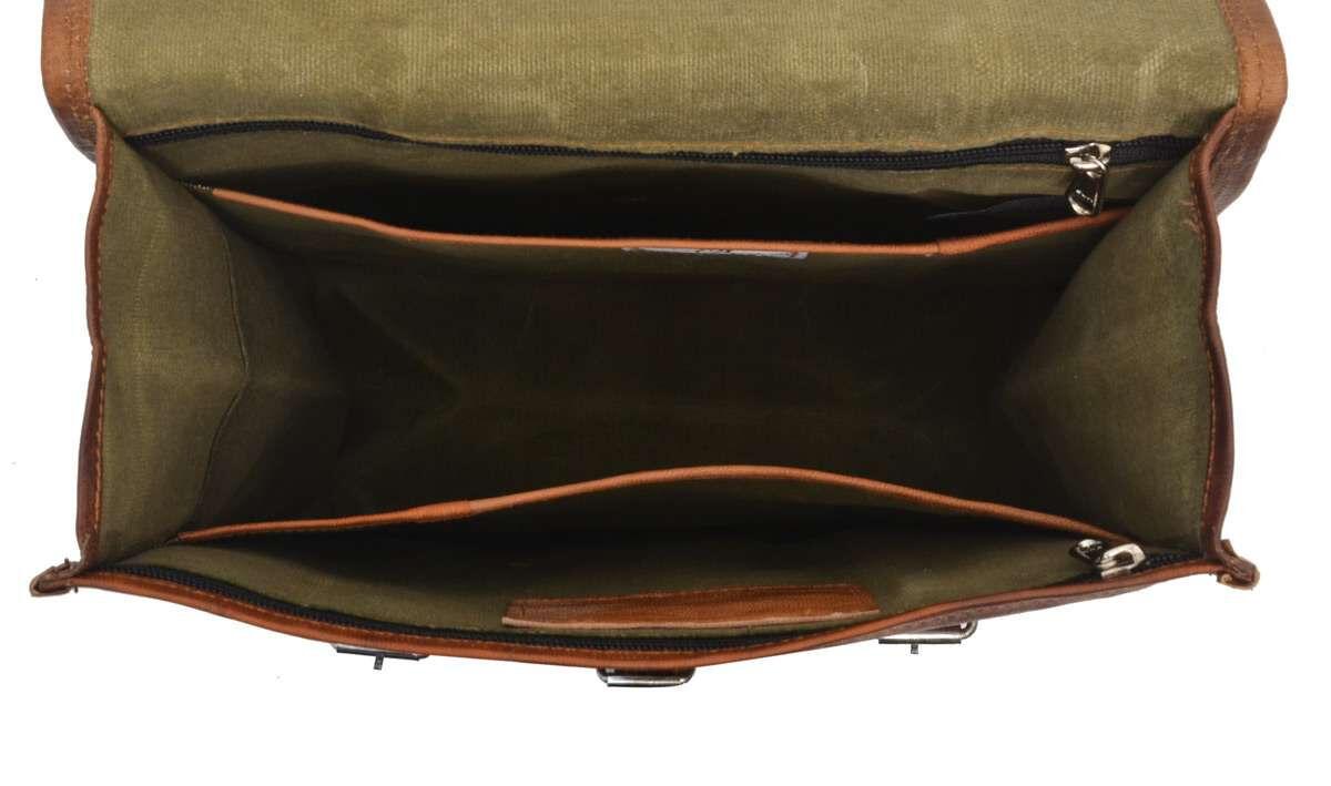 Outlet Rucksack – kleinere Lederfehler - kleine Farbunterschiede im Leder - faltiges Leder - ansons