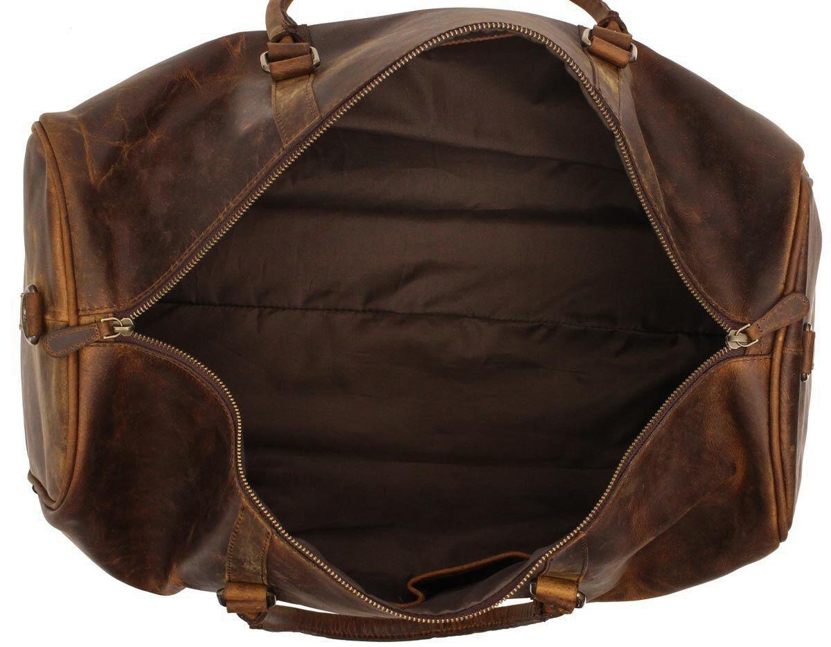 Outlet Reisetasche - kleinere Lederfehler - fehlerhaftes Design – Verfärbungen - eines defekten Rei