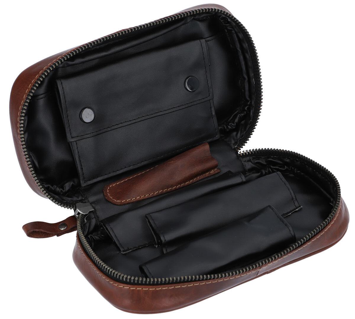Outlet Pfeifentasche - kleine Farbunterschiede im Leder - ansonsten neu - siehe Video