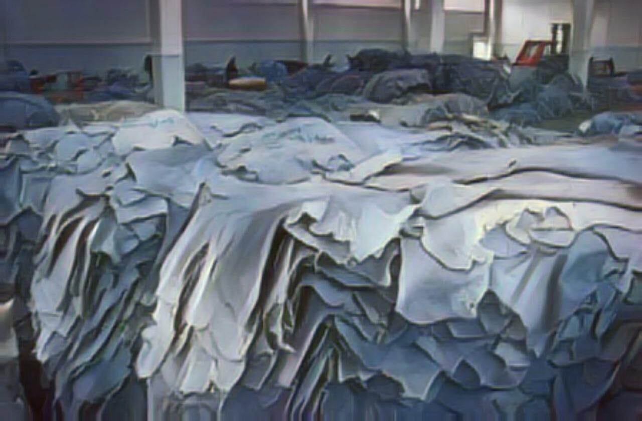 Lagerung Wet Blue Leder