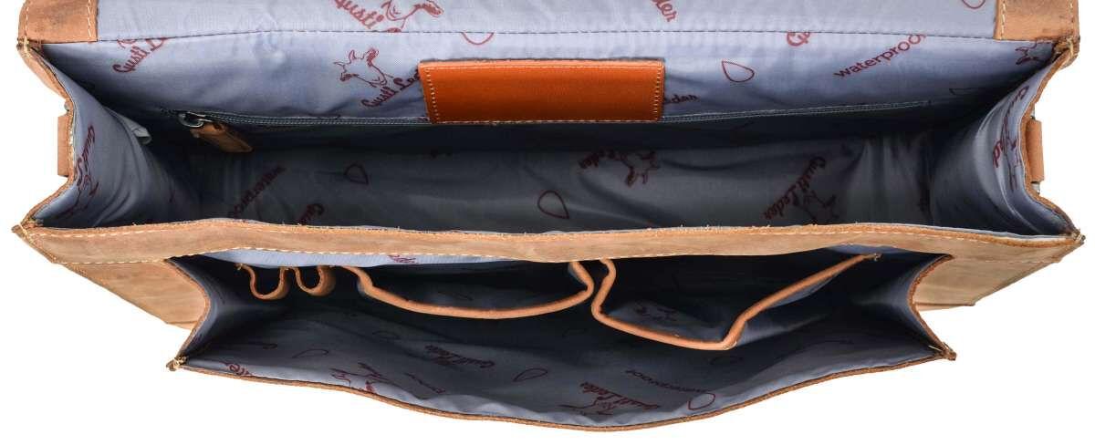 Outlet Aktentasche - kleine Farbunterschiede im Leder – kleinere lederfehler – ansonsten neu – Siehe