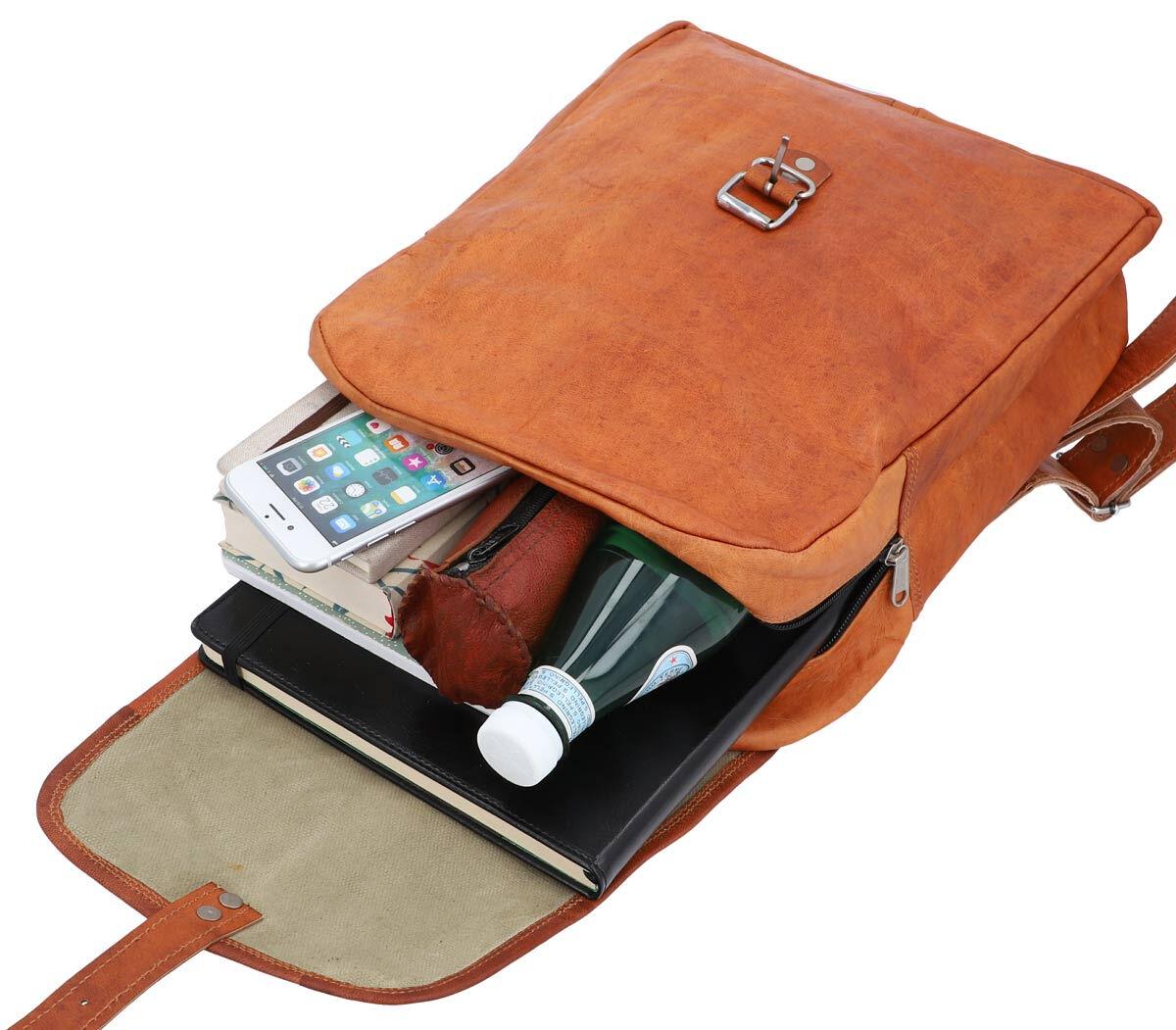Outlet Rucksack - faltiges Leder - kleinere Lederfehler - Leder leicht fettig - kleine Farbunterschi