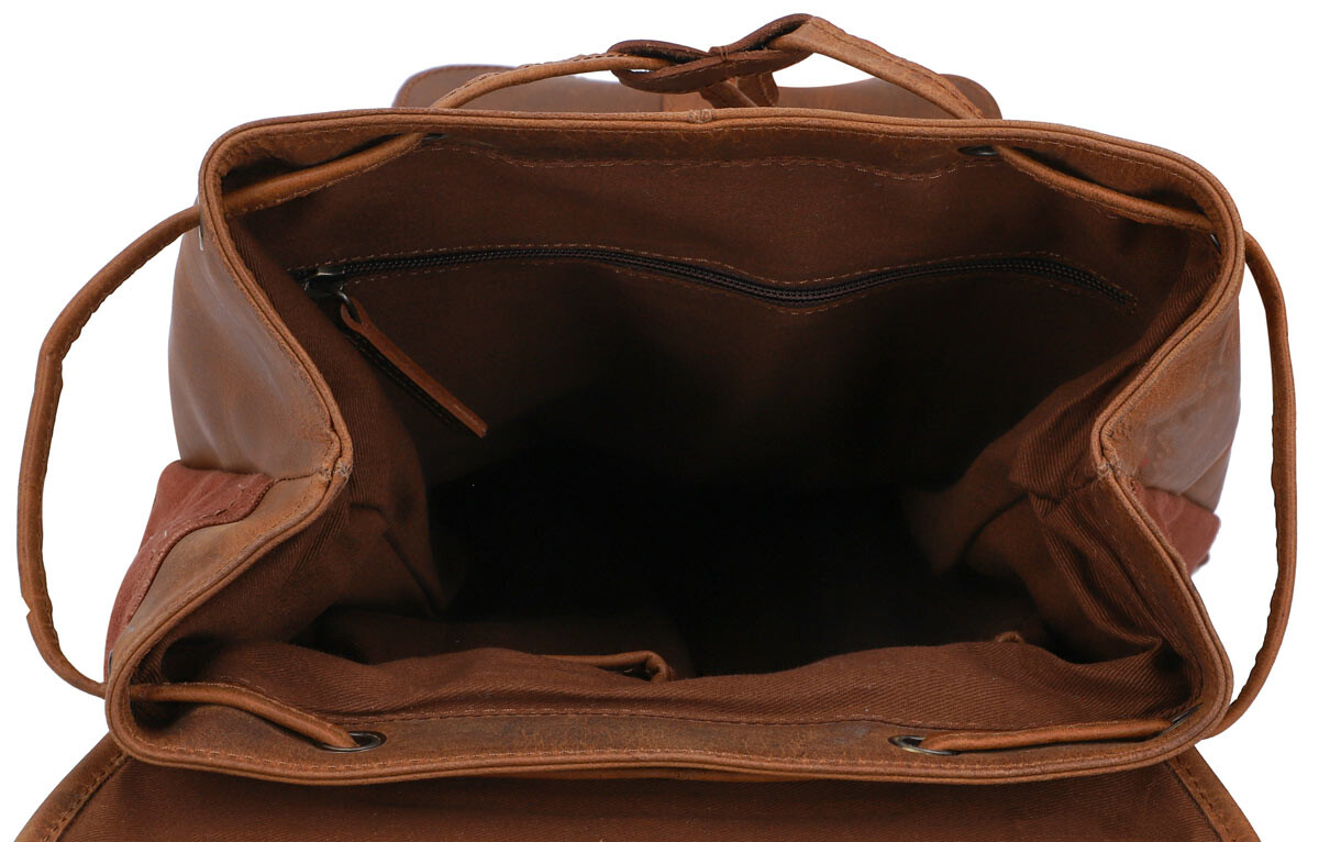 Outlet Rucksack - kleinere Lederfehler - faltiges Leder – ansonsten neu – Siehe Video