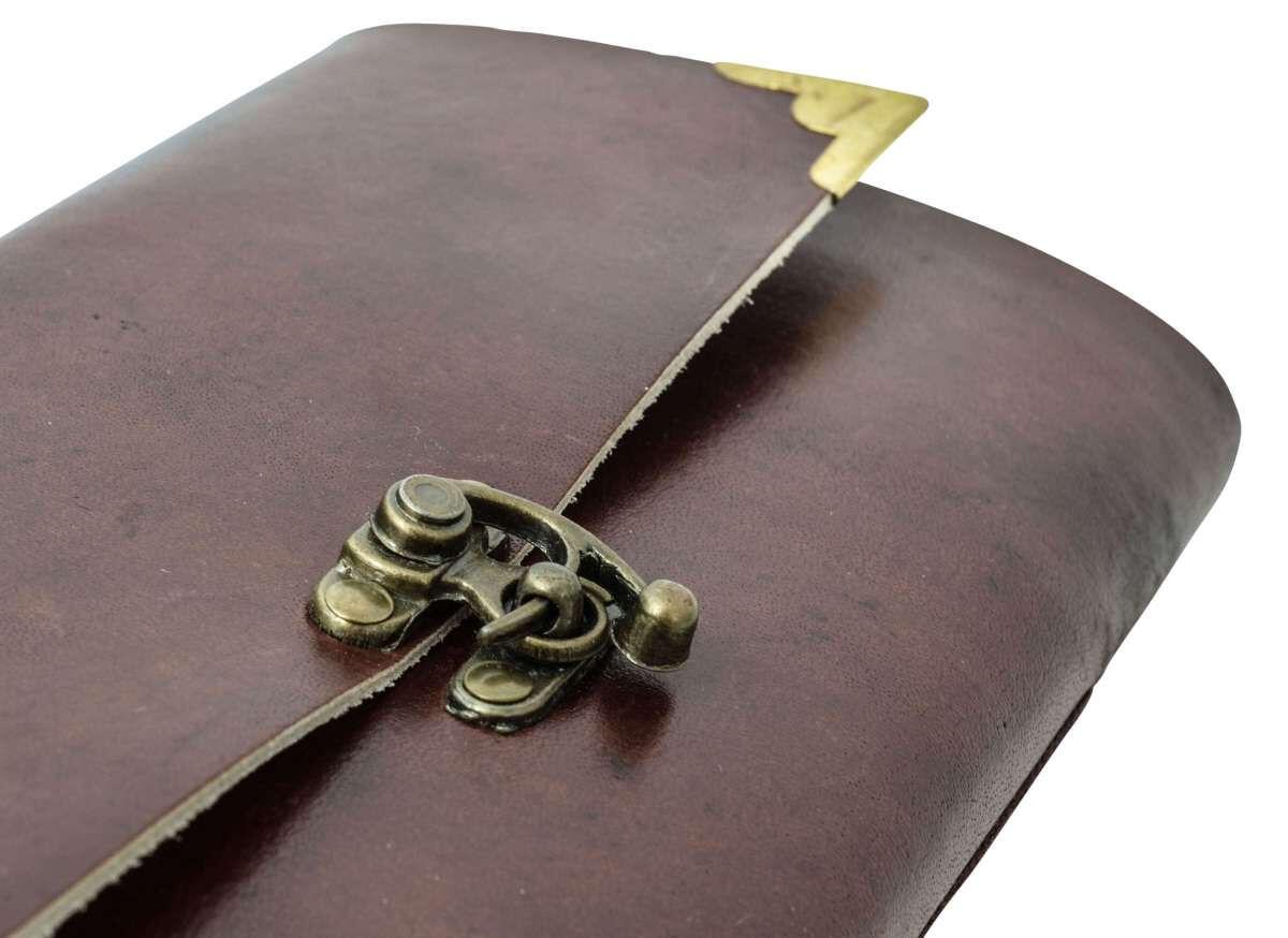 Outlet Notizbuch – kleinere Lederfehler - defekte Nieten – ansonsten neu – Siehe Video