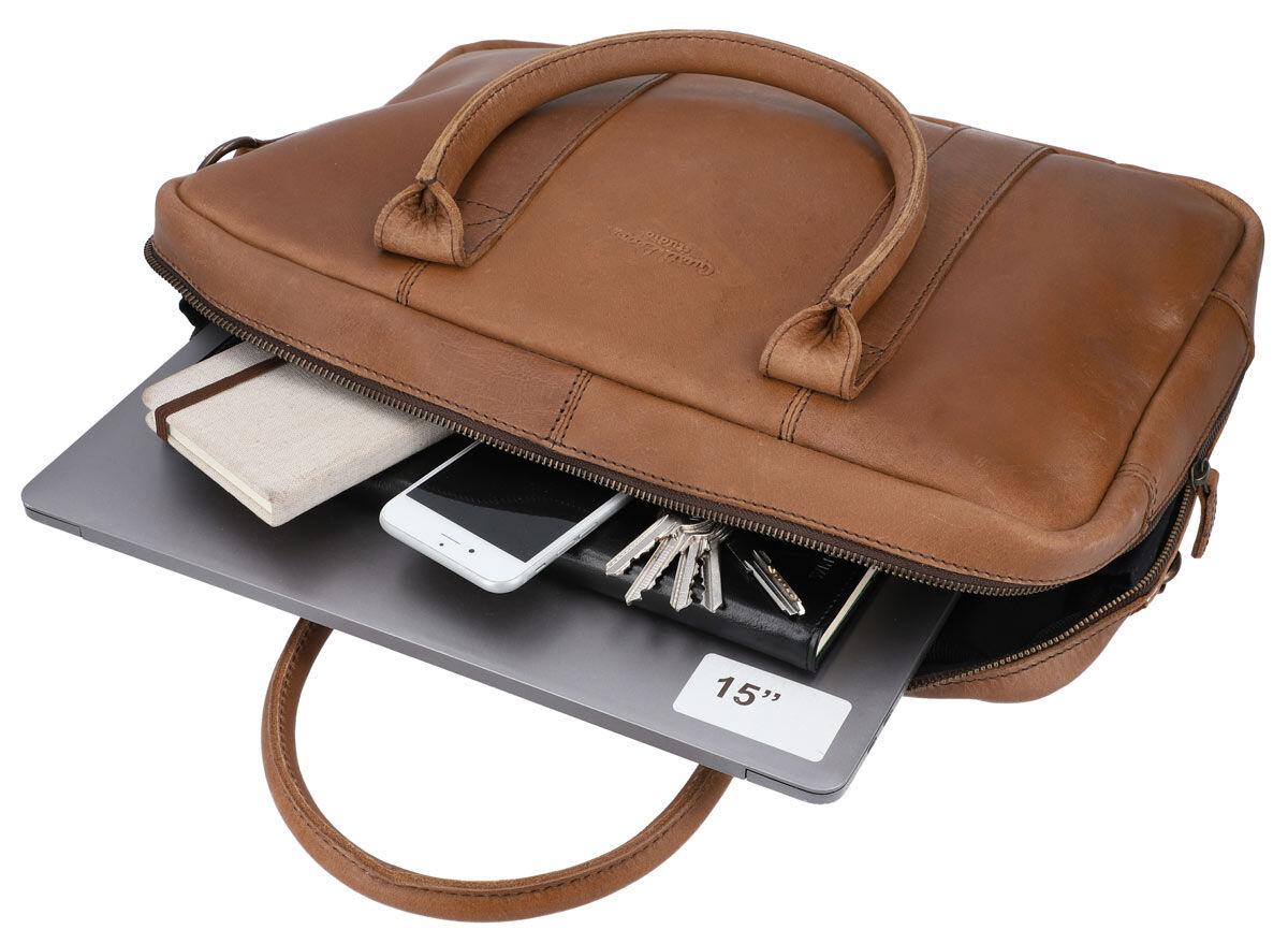 Outlet Umhängetasche - kleinere Lederfehler - leichte Verfärbung – faltiges Leder - ansonsten neu -