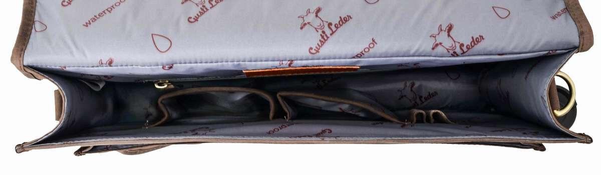 Outlet Aktentasche - fehlender Verschluss - kleiner Lederfehler - ansonsten neu - siehe Video