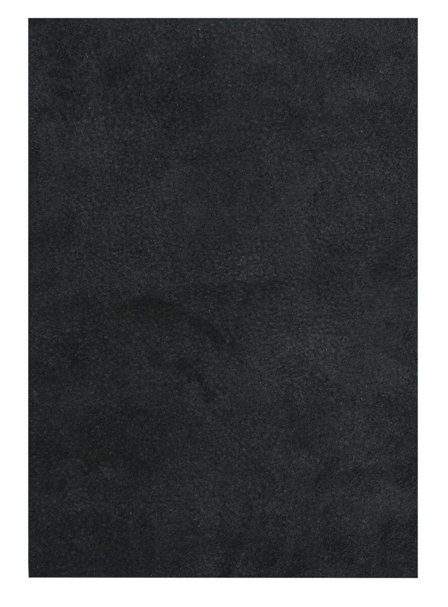 Læderstykke af bøffellæder sort
