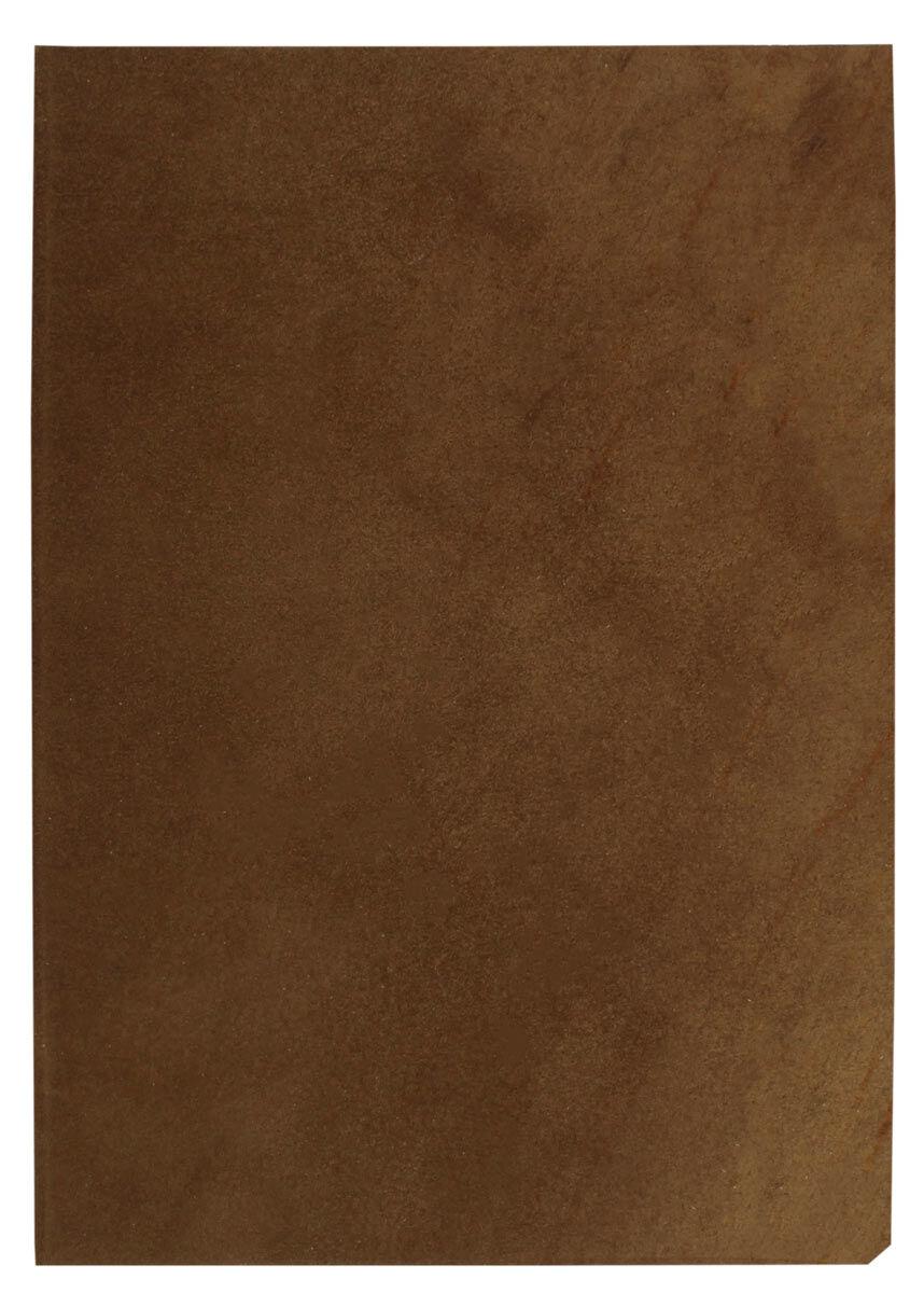Pièce de cuir de vachette marron foncé A5