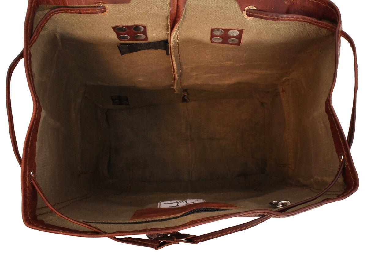 Outlet Rucksack – kleinere Lederfehler - faltiges Leder - kleine Farbunterschiede im Leder – ansonst