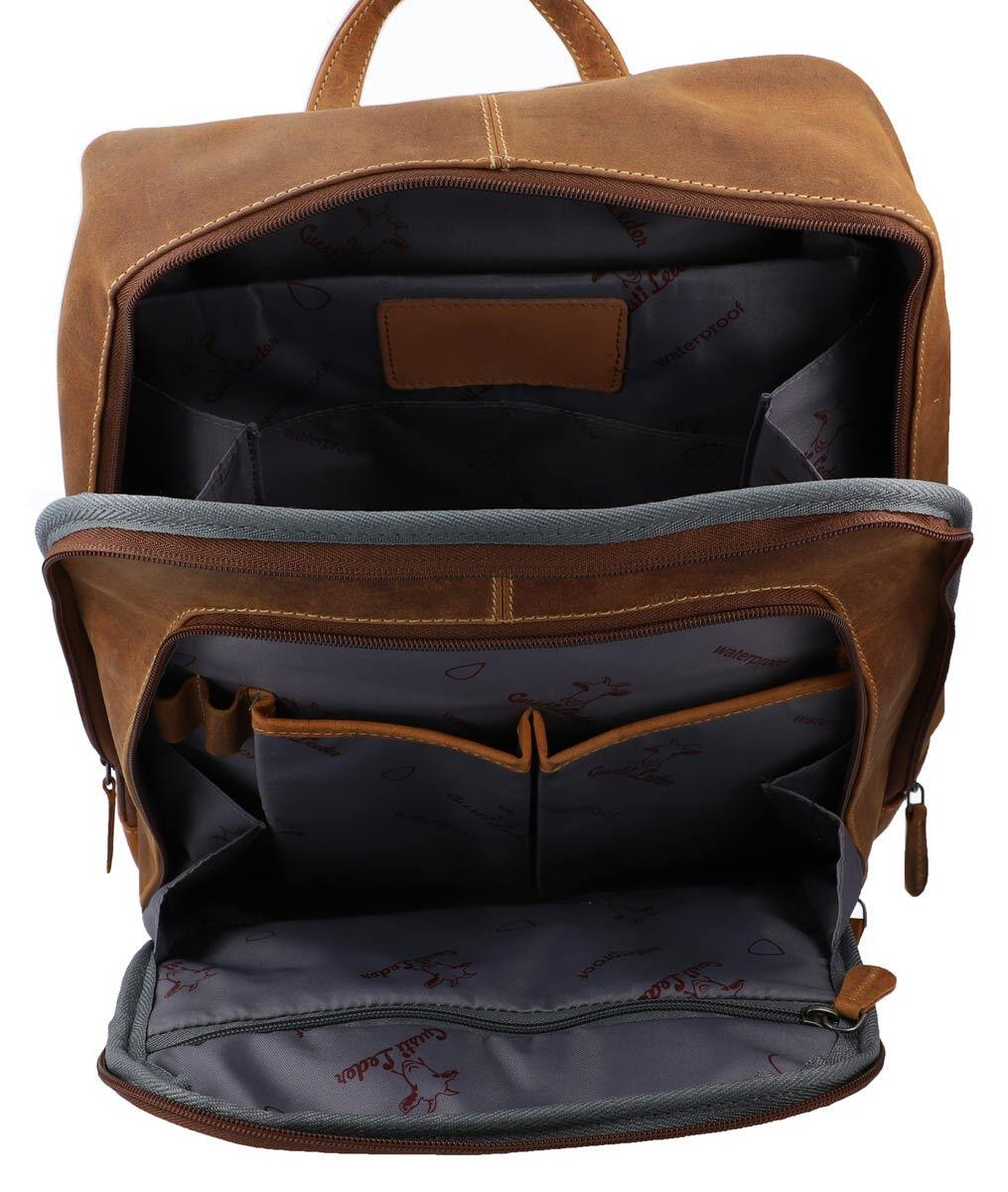 Outlet Rucksack – kleinere Lederfehler – kleine Farbunterschiede im Leder – ansonsten neu – Siehe Vi