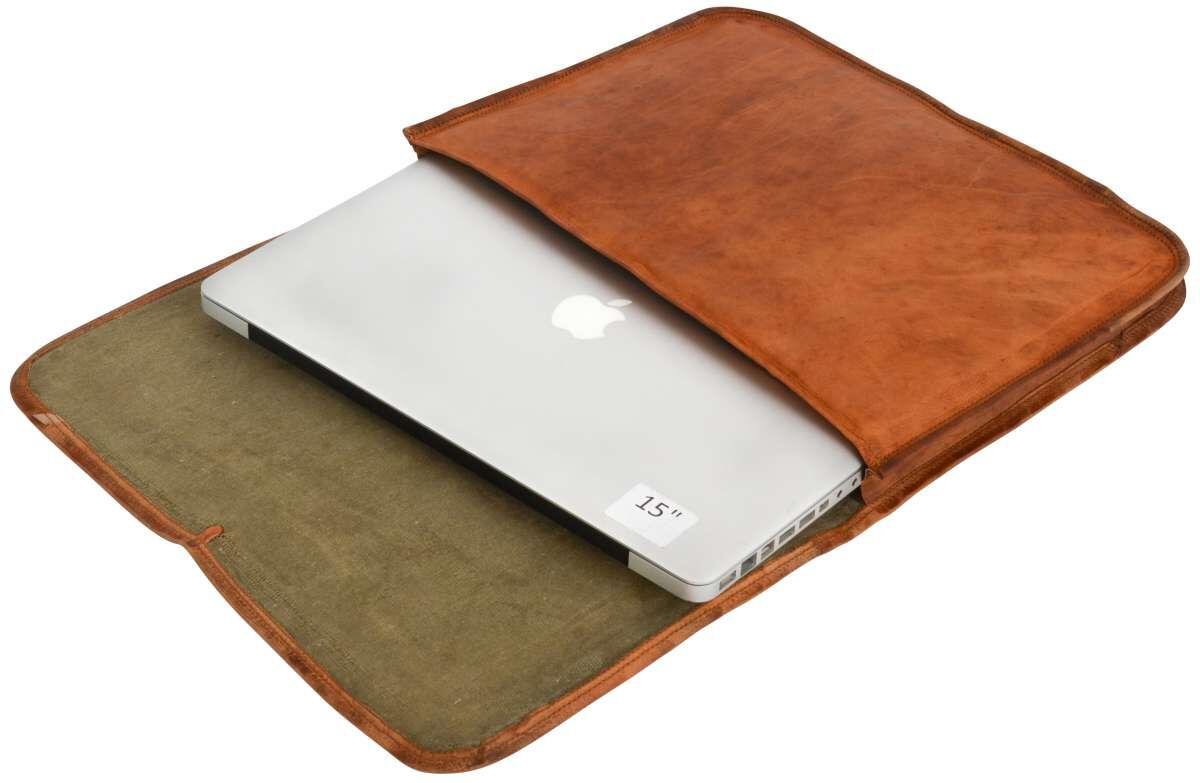 Outlet Laptoptasche - kleinere Lederfehler – Verfärbungen - ansonsten neu – siehe Video