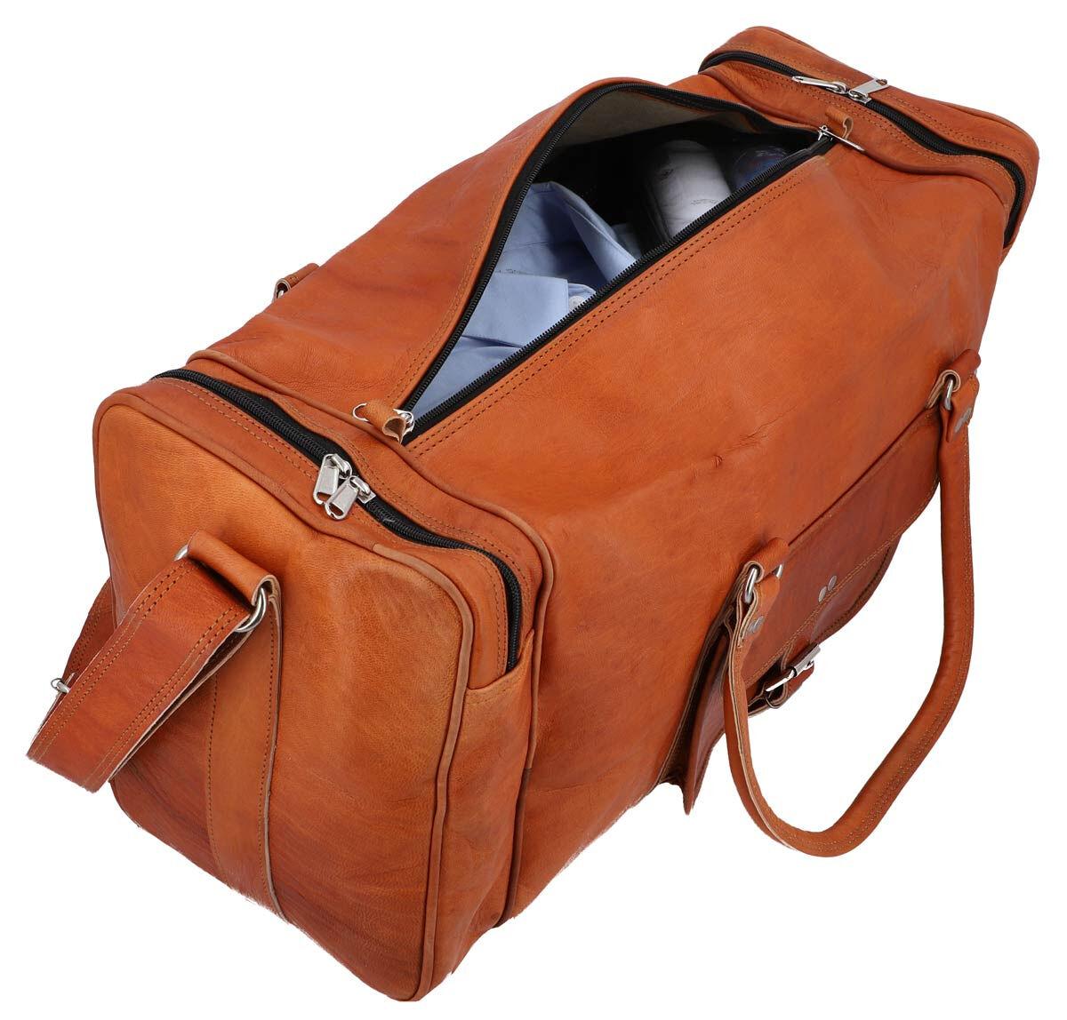 Outlet Reisetasche - leichter Rost - kleinere Lederfehler- vorhandene Haarreste - Leder leicht fett