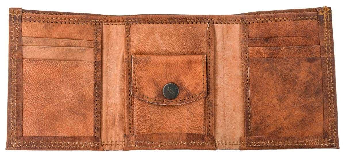Outlet Geldbörse - defekte Nähte - Leder leicht fettig - ansonsten neu - siehe Video