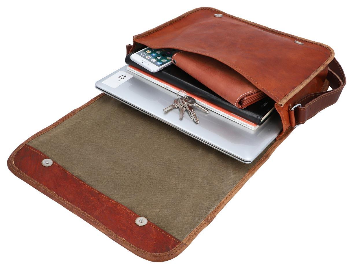 Outlet Umhängetasche - kleinere Lederfehler - faltiges Leder – Verfärbungen – ansonsten neu – siehe