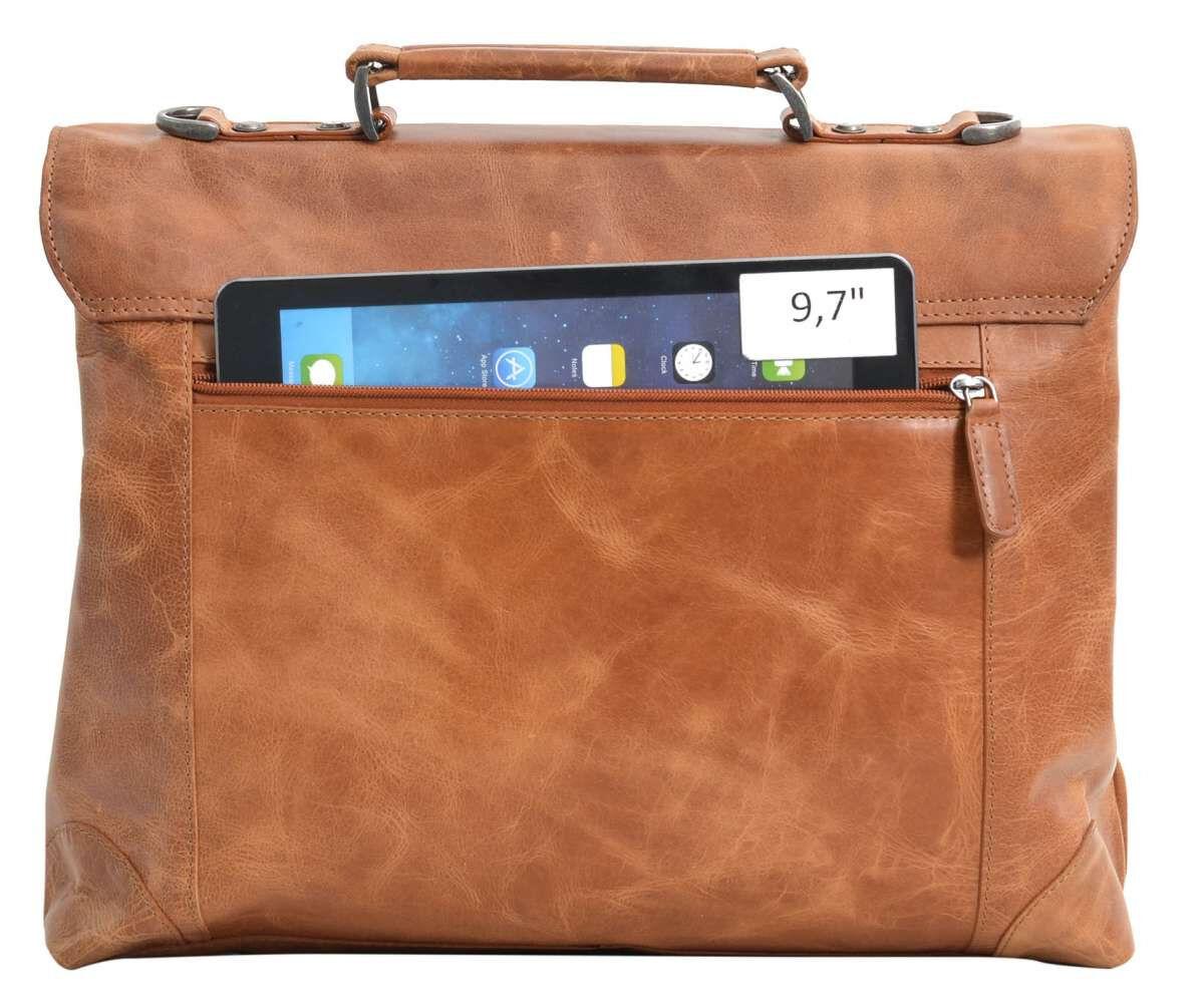 Outlet Businesstasche - faltiges Leder – kleinere Lederfehler - andere Innenfutter Farbe - Verfärbun