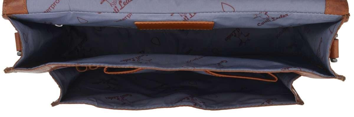 Outlet Aktentasche - fehlt Schlüssel – kleinere Lederfehler - Verfärbungen - ansonsten neu – siehe V