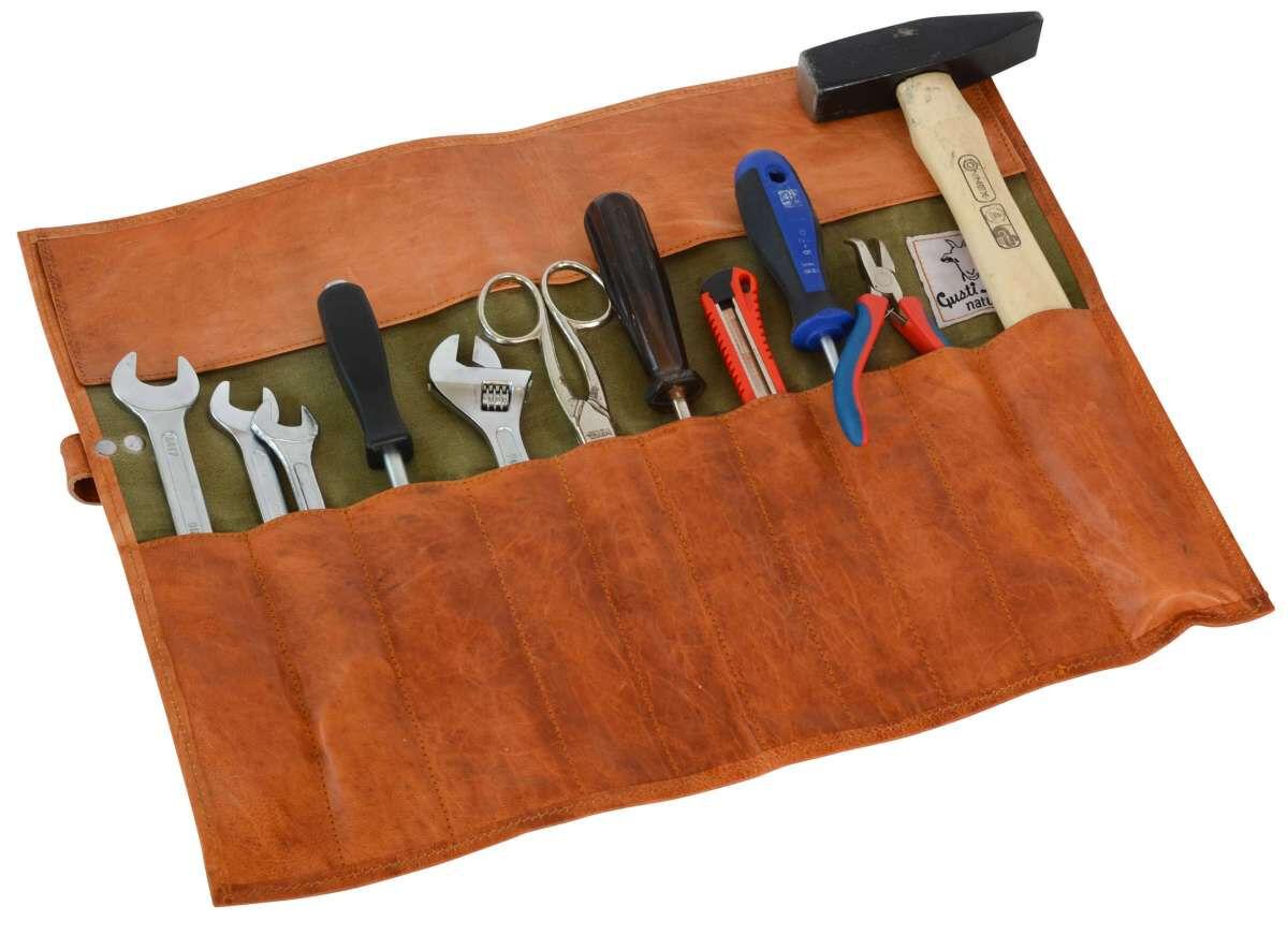 Outlet Werkzeugmappe - kleinere Lederfehler – Verfärbungen – ansonsten neu – Siehe Video