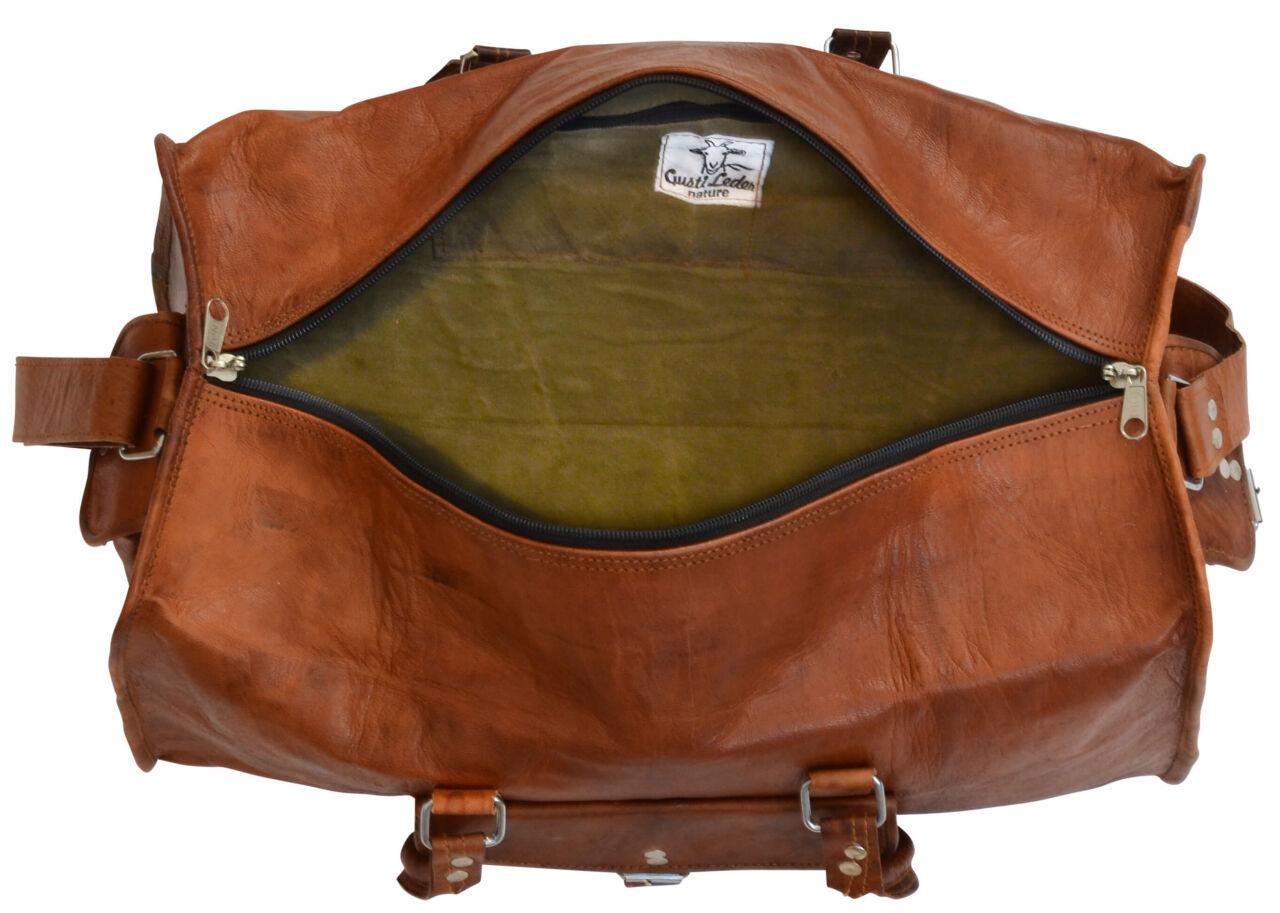 Outlet Reisetasche - faltiges Leder - leichte Verfärbung - ansonsten neu - siehe Video