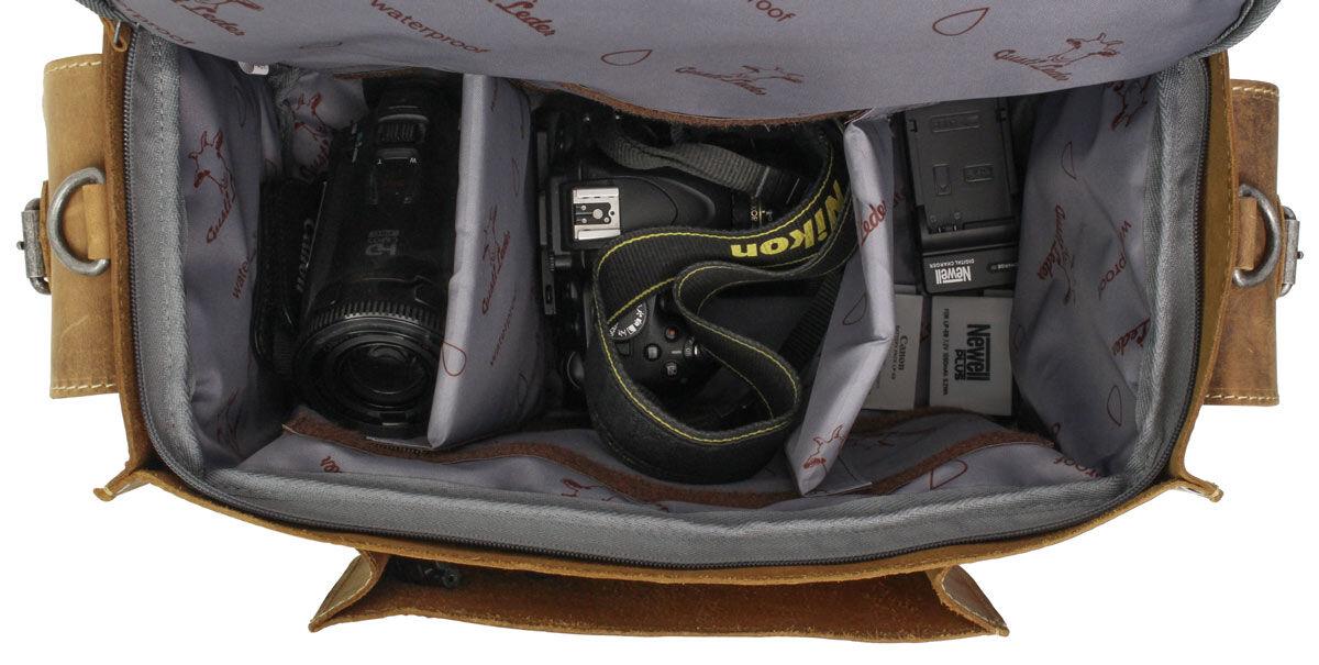 Outlet Kameratasche – kleinere Lederfehler – Altes Logo – ansonsten neu – Siehe Video