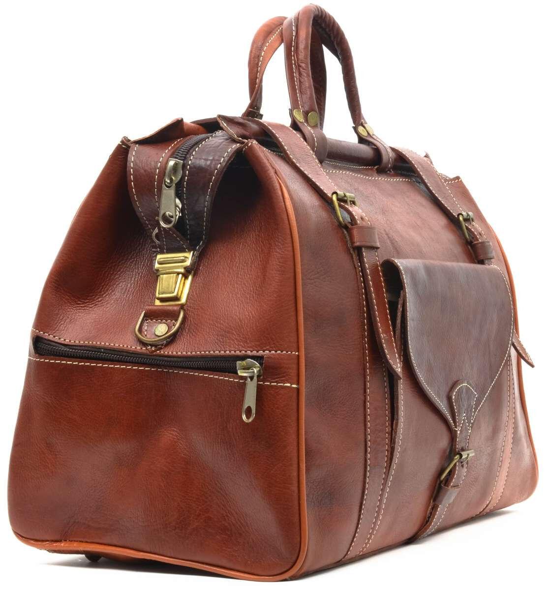 Outlet Reisetasche - kleinere Lederfehler - Schultergurt fehlt - ansonsten neu - siehe Video