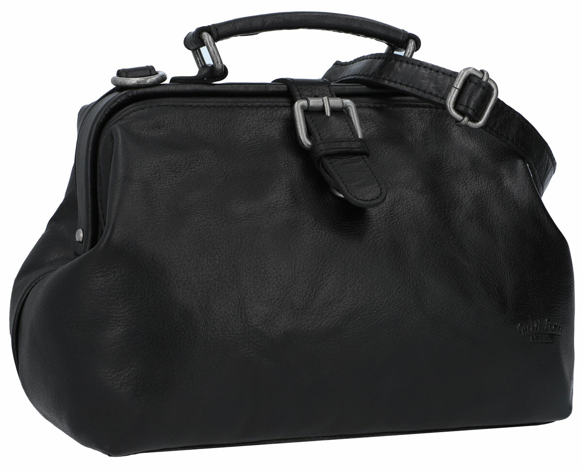 Umhängetasche Vintage Ledertasche Handtasche Arzttasche Grau Leder