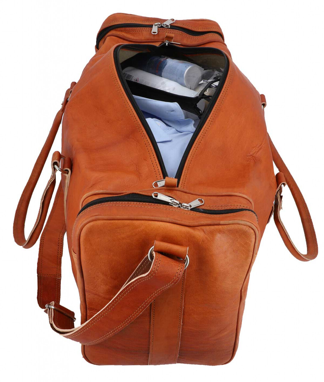 Outlet Reisetasche - leichter Rost - kleinere Lederfehler - andere Innenfutter Farbe - ansonsten n