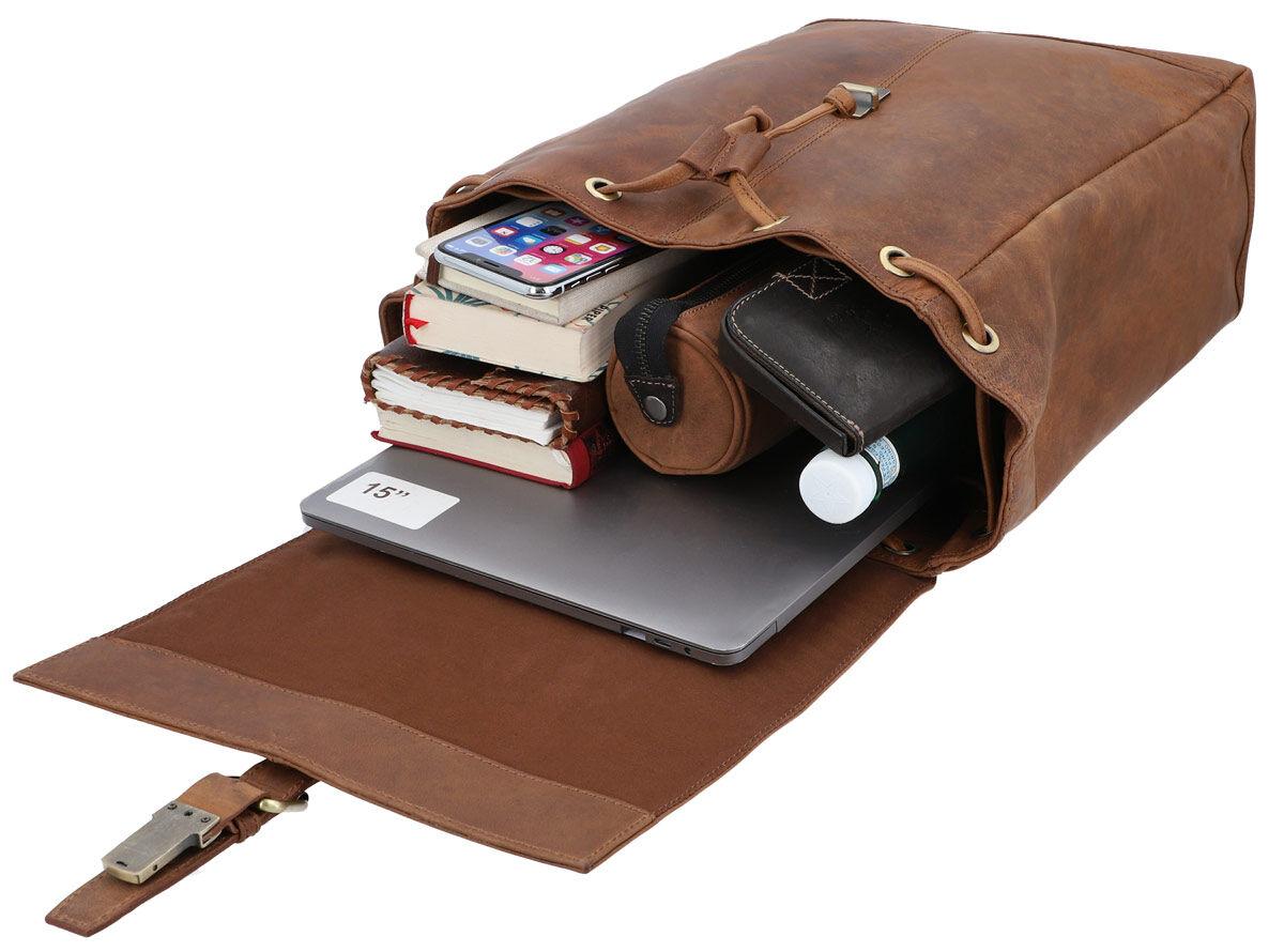 Outlet Rucksack - kleinere Lederfehler – ansonsten neu – Siehe Video