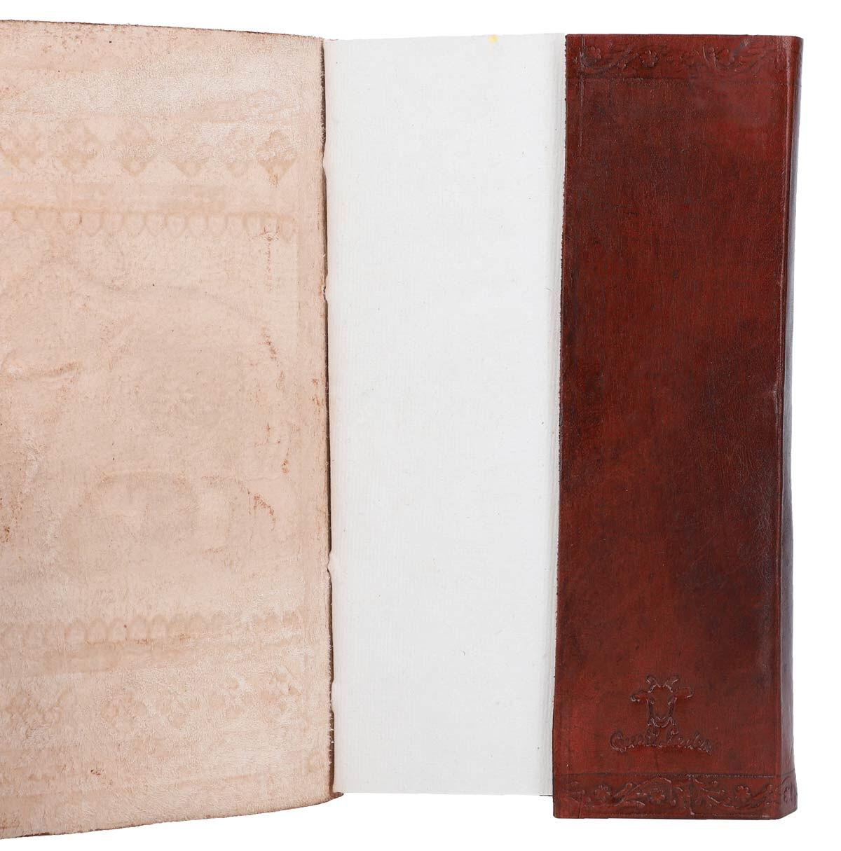Outlet Lederbuch - altes Design - kleinere Lederfehler– vergilbtes Zettel -ansonsten neu- siehe Vid
