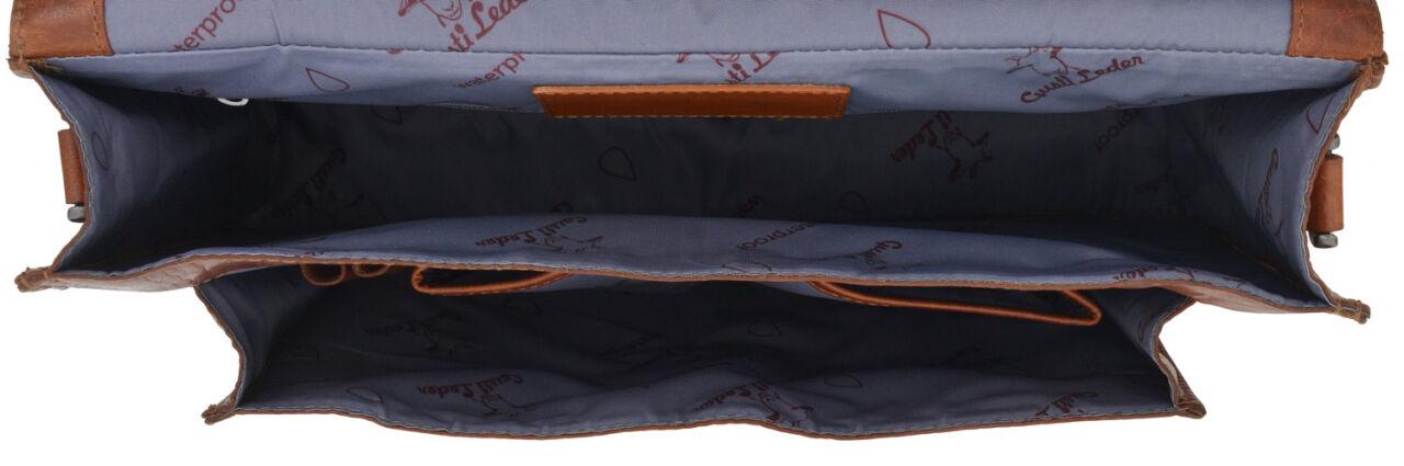 Outlet Aktentasche - kleinere Lederfehler - leichter Fehler im Innenfutter - faltiges Leder – ansons